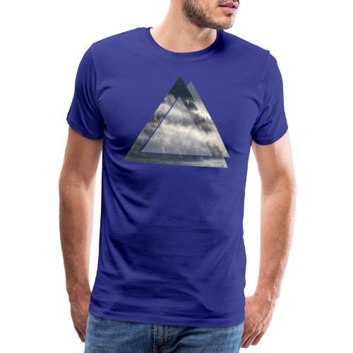 Dreieck Wald Nebel - Männer Premium T-Shirt