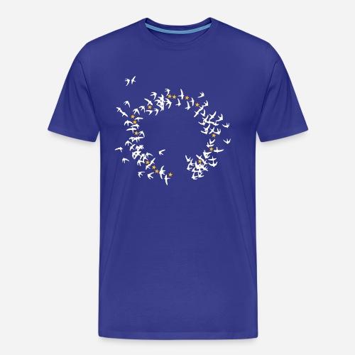 europe birds 2c ed2 - Herre premium T-shirt