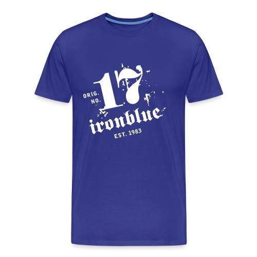 ironblue 17 offen neg1 - Männer Premium T-Shirt