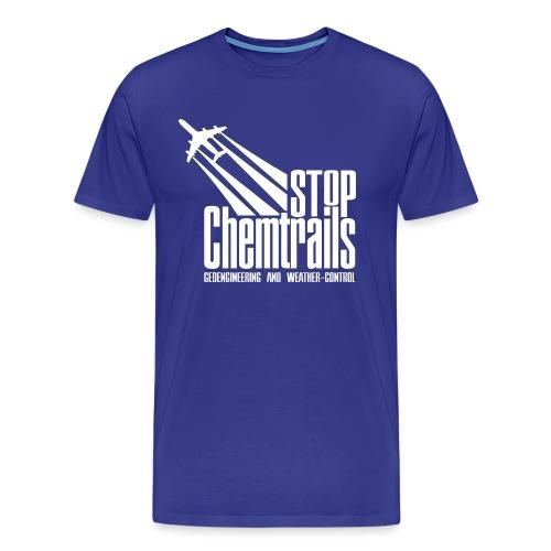 STOP CHEMTRAILS - white print - Mannen Premium T-shirt
