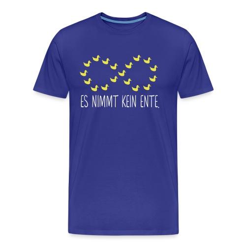 Nerd Ente Unendlich Geek Unendlichkeitszeichen - Männer Premium T-Shirt