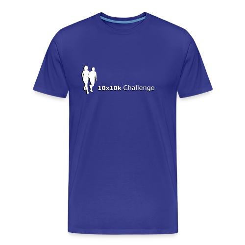 10x10k Challenge Men's - Orange - Men's Premium T-Shirt