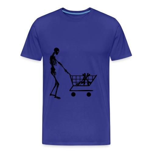 SCELETON - Herre premium T-shirt