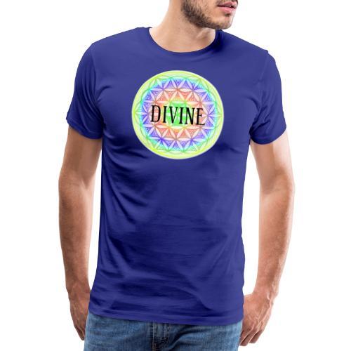 Mandala Blume des Lebens Divine, bunt - Männer Premium T-Shirt