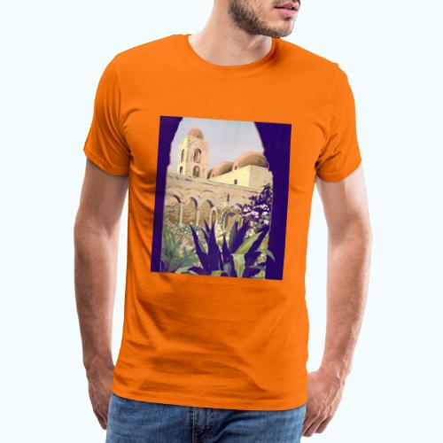 Palermo Vintage Travel Poster - Men's Premium T-Shirt