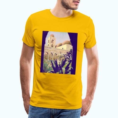 Palermo Vintage Travel Poster - Men's Premium T-Shirt