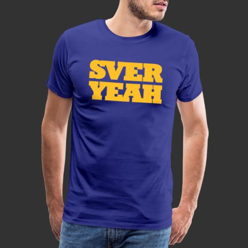 SVERYEAH BlåGul - Premium-T-shirt herr