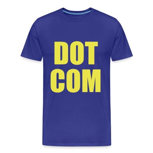 dotcom gul - Herre premium T-shirt