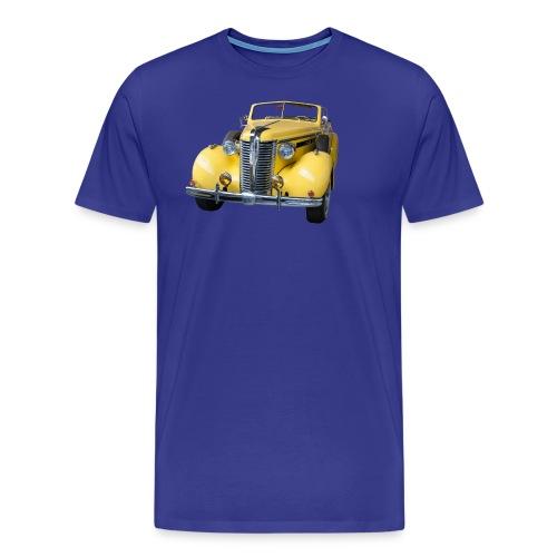 Gele klassieke auto1920 - Mannen Premium T-shirt