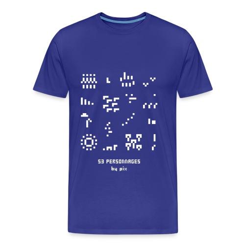 53 personnages - T-shirt Premium Homme