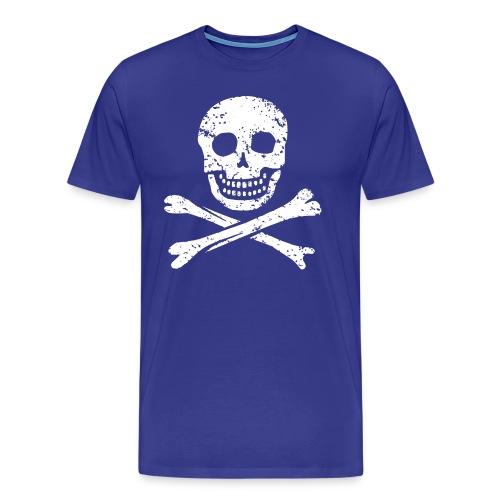 Skull & Crossbones - Distressed - Men's Premium T-Shirt