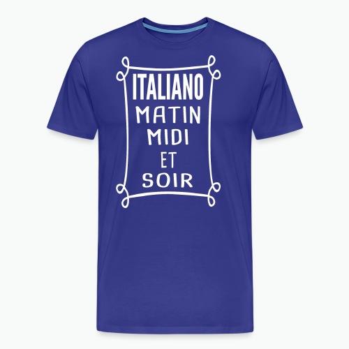 Italiano - Forza Azzurri - T-shirt Premium Homme