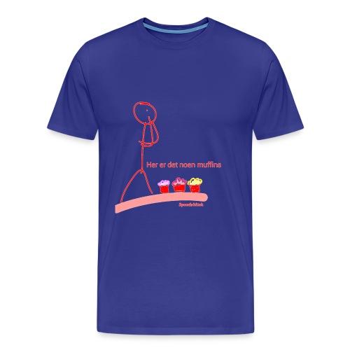Her er det noen muffins transparent rød png - Premium T-skjorte for menn