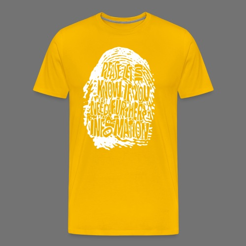 Fingerprint DNA (white) - Männer Premium T-Shirt