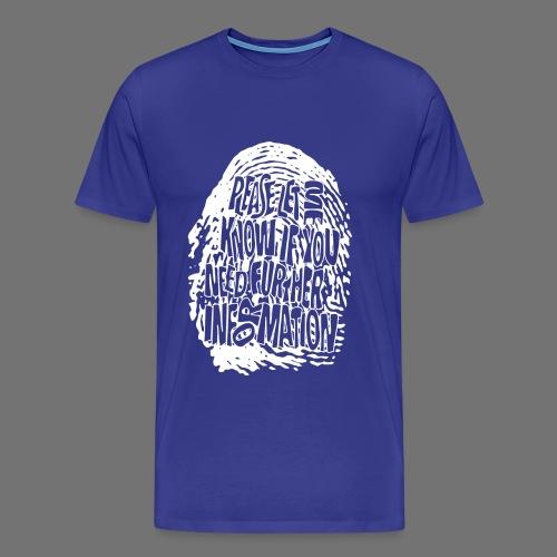 Fingerprint DNA (white) - Men's Premium T-Shirt