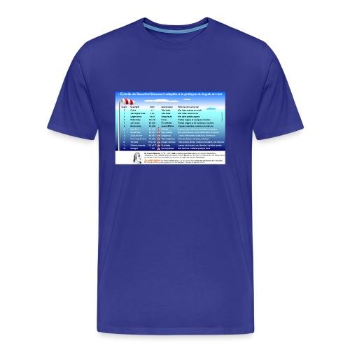 Echelle beaufort - T-shirt Premium Homme