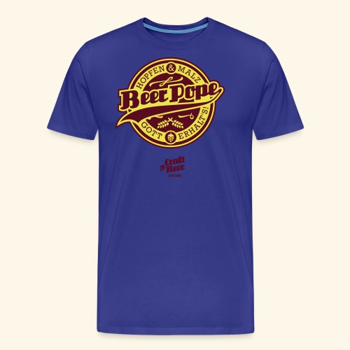 Beer Pope, bicolor - Männer Premium T-Shirt