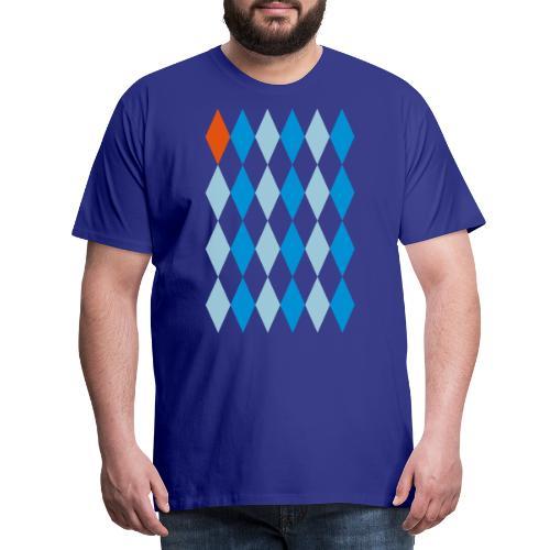 Losange Orange - Mannen Premium T-shirt