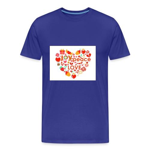 Love Peace Joy - Men's Premium T-Shirt