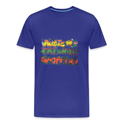Autism Friendly Shopping Graffiti Style - Men's Premium T-Shirt