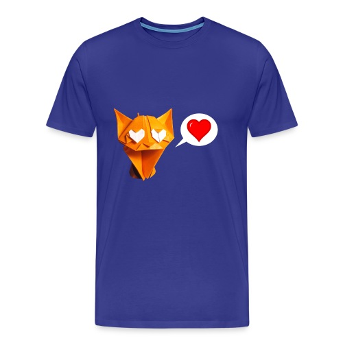 Adorable Cat Origami - Cat - Gato - Gatto - Katze - Men's Premium T-Shirt