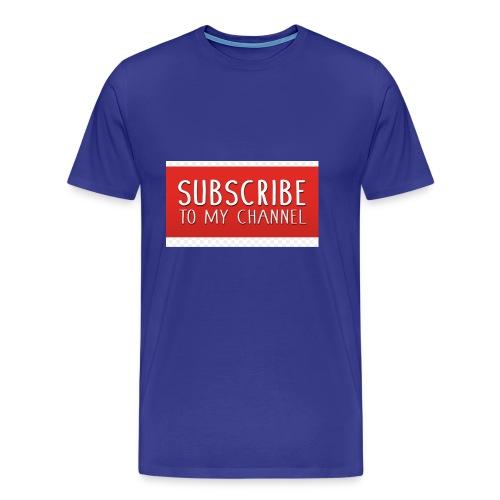sub to galactic madman - Men's Premium T-Shirt