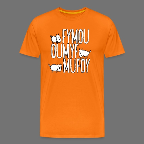 Three friends Fymou, Oumyf and Mufoy - Men's Premium T-Shirt