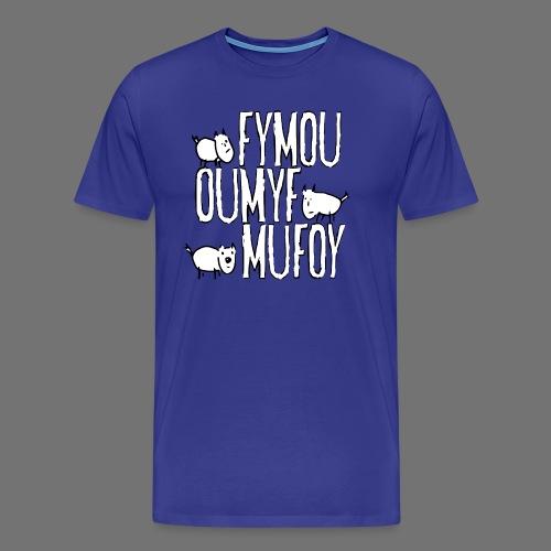 Tre venner Fymou, Oumyf og Mufoy - Herre premium T-shirt