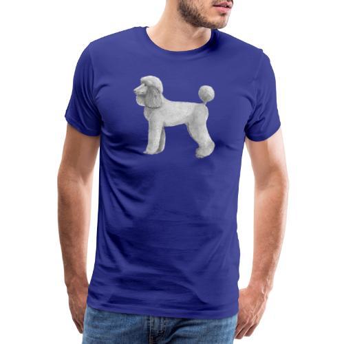 poodle standard abricot-M - Herre premium T-shirt