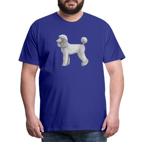 poodle standard abricot ink - Herre premium T-shirt