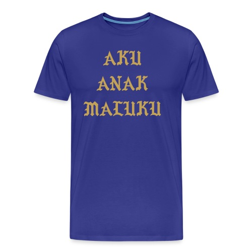Aku Anak Maluku goud png - Mannen Premium T-shirt