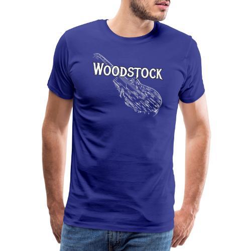 Woodstock Event Gitarre Shirt Geschenk - Männer Premium T-Shirt