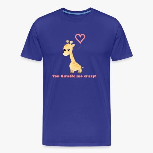 Giraffe Me Crazy - Herre premium T-shirt