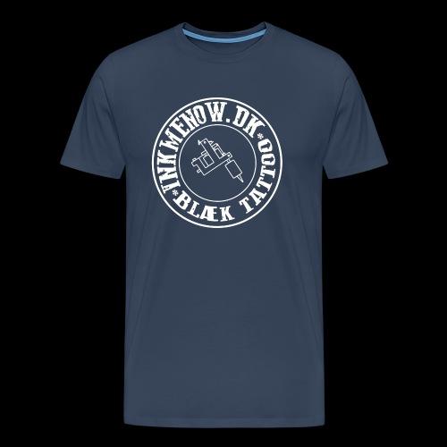 logo hvid png - Herre premium T-shirt