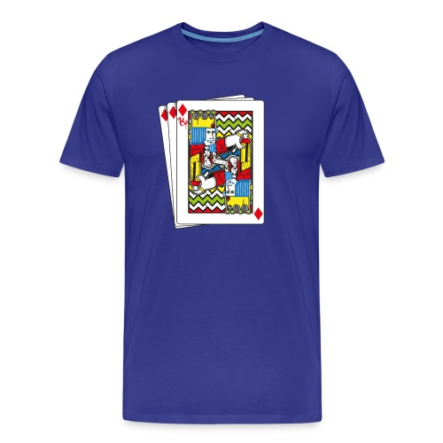 King Playing Card holding a Spraycan - Mannen Premium T-shirt