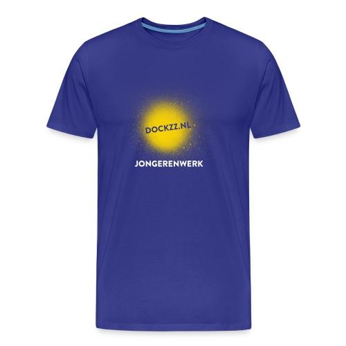 dockzz nl op gele verf jongerenwerk - Mannen Premium T-shirt