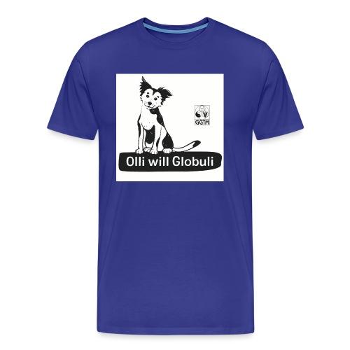 Hund Olli Hintergrund weiß - Männer Premium T-Shirt