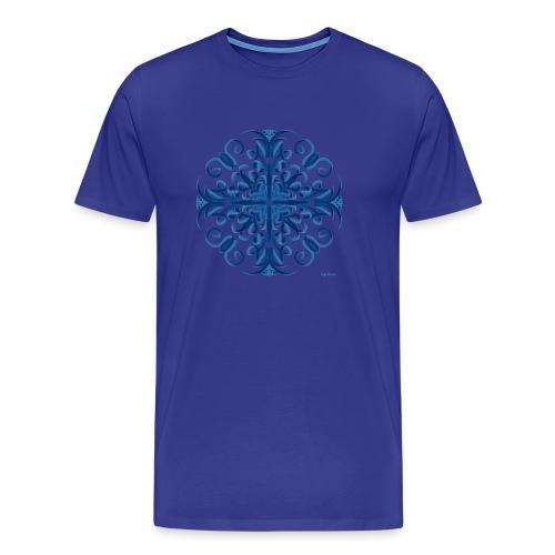 Classic Blue Modo Mandala - Camiseta premium hombre