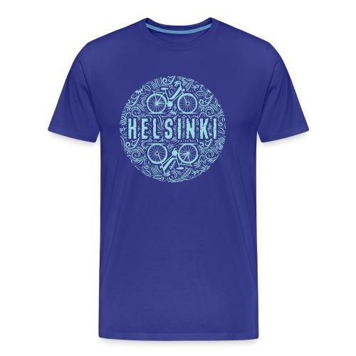 HELSINKI BICYCLE LIFE Tekstiilit ja lahja tuotteet - Miesten premium t-paita