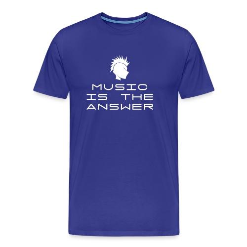 Mohawk Logo - Music is the Answer - Men's Premium T-Shirt
