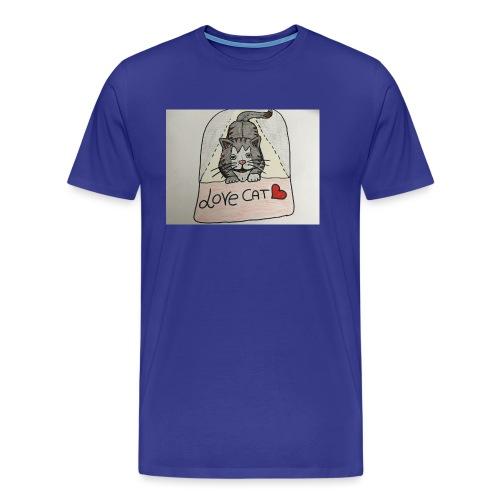 Love cat - Maglietta Premium da uomo