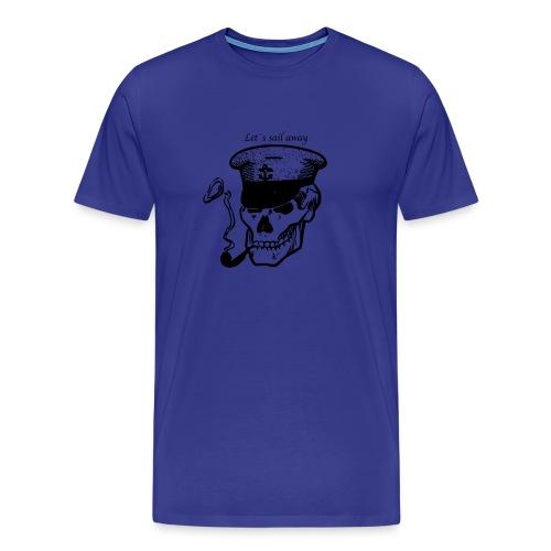 Let`s sail away - Premium T-skjorte for menn