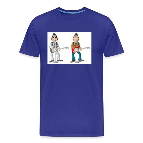 Teddy-Guitar Twins - Maglietta Premium da uomo