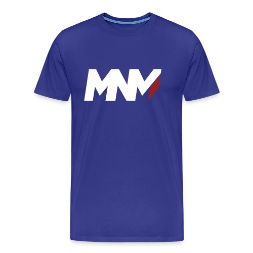 MNM With RED WHITE Corner - Men's Premium T-Shirt
