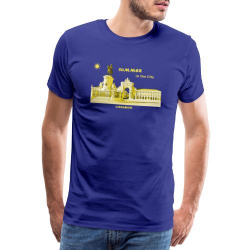 Sommer Lissabon Portugal Hauptstadt City Palast - Männer Premium T-Shirt