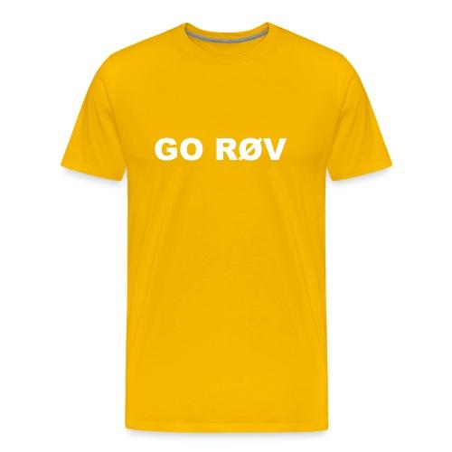 GO RØV - Herre premium T-shirt