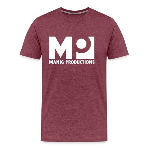 ManigProductions White Transparent png - Men's Premium T-Shirt