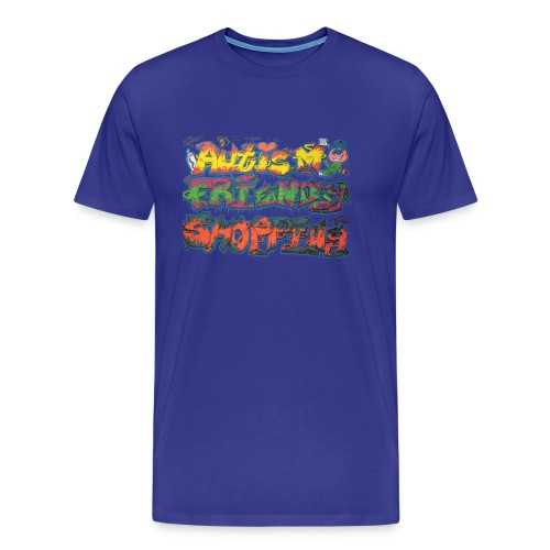 Autism Friendly Shopping Graffiti Style - Men's Premium T-Shirt