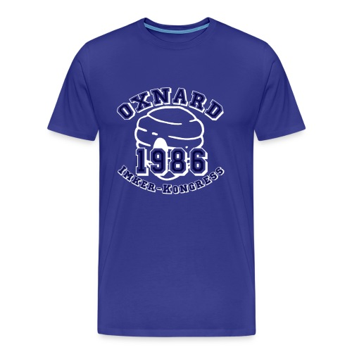oxnardwhiteblue copy - Männer Premium T-Shirt