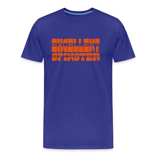 excellent spinster - Men's Premium T-Shirt